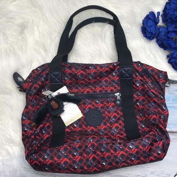 21df4d38a3b8 ... Kipling Bags Black Red Patterned Handbag Poshmark